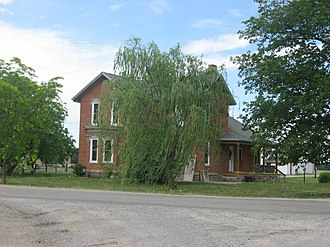 National Register of Historic Places listings in DeKalb County, Indiana - Image: Joseph Bowman Farmhouse