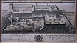 Joshua Kirby - The Ipswich Blackfriars domestic range, from Kirby's Twelve Prints, 1748