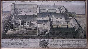 Joshua Kirby - The Ipswich Blackfriars domestic range, from Kirby's Twelve Prints, 1748