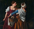 Judith and her maidservant with the head of Holofernes, by Orazio Gentileschi.jpg
