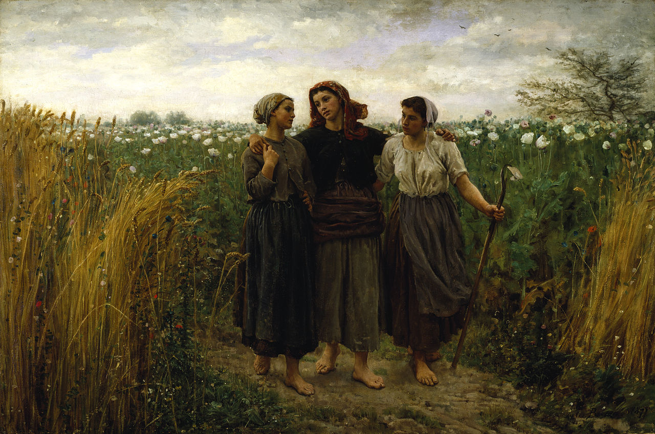 Jules Adolphe Aimé Louis Breton - Returning from the Fields - Walters 3758.jpg