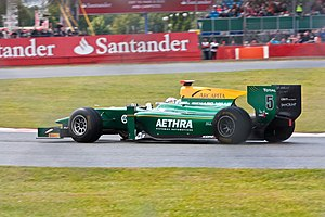 Jules Bianchi - Bianchi driving for Lotus ART during the Silverstone round of the 2011 GP2 season