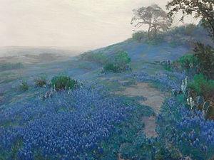 Julian Onderdonk - Image: Julian Onderdonk Blue Bonnet Field, Early Morning, San Antonio Texas (1914)
