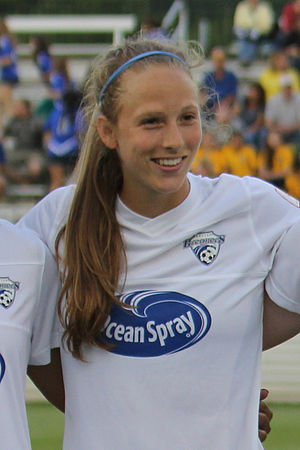 Julie King - King with Boston Breakers in 2013