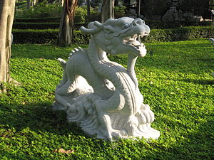 The dragon statue is one of the 12 Chinese Zod...