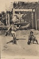 KITLV - 174175 - Demmeni, J. - Kenyah sword dancer accompanied by a kledi player (mouth organ) in Apo Kayan in East Borneo - 1895-1900.tiff