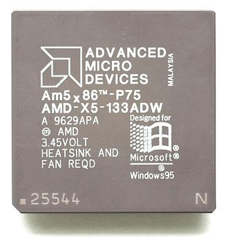Am5x86 - An early Am5x86-P75 for Socket 3, model ADW