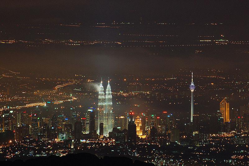 کوالالمپور شہر کا منظر