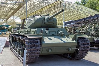 Kliment Voroshilov tank - KV-1 with KV-1S turret in the Great Patriotic War Museum, Moscow.