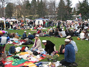 Walpurgis Night - People at a Vappu picnic in Kaivopuisto in 2008