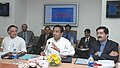 Kamal Nath addressing at the Third Meeting of Board of Trade in New Delhi on March 14, 2006. The Minister of State for Commerce, Shri Jairam Ramesh and the Chairman of the Board, Shri Kumaramangalam Birla are also seen.jpg