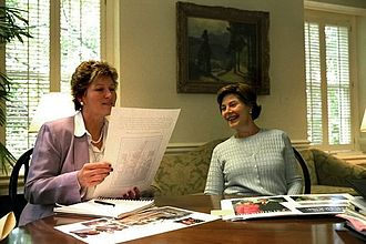 Counselor to the President - Counselor to the President Karen Hughes and First Lady Laura Bush, June 28, 2002.