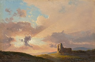 The Ruins at Sunset