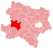 Location of the Melk district in Lower Austria