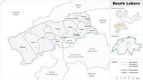 Karte von Bezirk Lebern