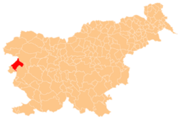 Location of the Municipality of Kanal ob Soči in Slovenia