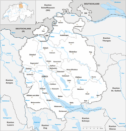Map of the Canton of Zurich