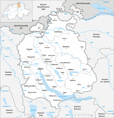 Map of Zürich