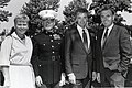 Kathy Flynn, unidentified, Sen. Bob Kerrey, Mayor Raymond L. Flynn (9504743404).jpg