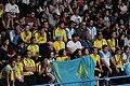Kazakhstan cheering at boxing 2018 YOG 02.jpg