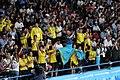 Kazakhstan cheering at boxing 2018 YOG 06.jpg