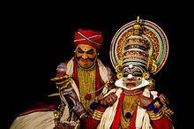 Kichaka-vadham scéna v kathakali divadle