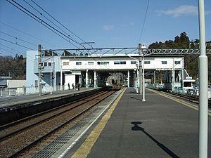 Sōgosandō Station - Image: Keisei Sogosando sta 004