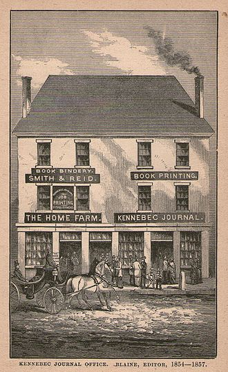 James G. Blaine - The offices of the Kennebec Journal, where Blaine got his start in politics as editor.