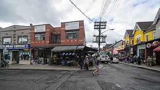 Kensington Market - Kensington Market at street level from Baldwin Street and Kensington Avenue