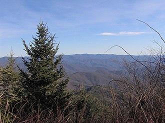 Mount Kephart - Looking southeast from the summit of Mt. Kephart