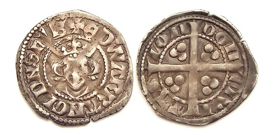 Long cross penny with portrait of Edward King Edward I penny London mint.jpg