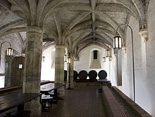 Henry VIIII's wine cellar beneath Main Building.
