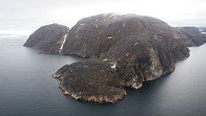 Kingittorsuaq Island - Aerial view of Kingittorsuaq Island