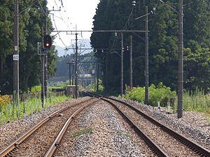 Tobu Kinugawa Line - Image: Kinutateiwa Shingojo