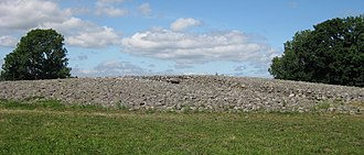 The King's Grave - The circular burial site near Kivik, Sweden