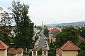 Klagenfurt - Blick vom Kreuzbergl auf die Stadtpfarkirche.JPG