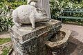 Klagenfurt Sankt Martin Friedelstrand Antonius-Brunnen Schwein-Skulptur 08052017 8285.jpg