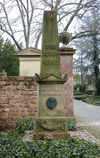 Karl Ludwig Sand - His grave in Mannheim