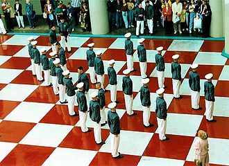 South Carolina Corps of Cadets - Image: Knobs on the Quad