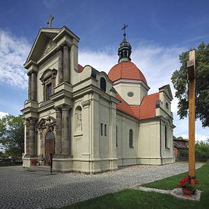Church of the Sacred Heart of Jesus, Grabowo Królewskie - Image: Kościół Najświętszego Serca Pana Jezusa w Grabowie Królewskim 1