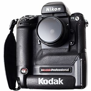 Kodak DCS - A Kodak DCS 760, a six megapixel digital SLR based on a Nikon F5