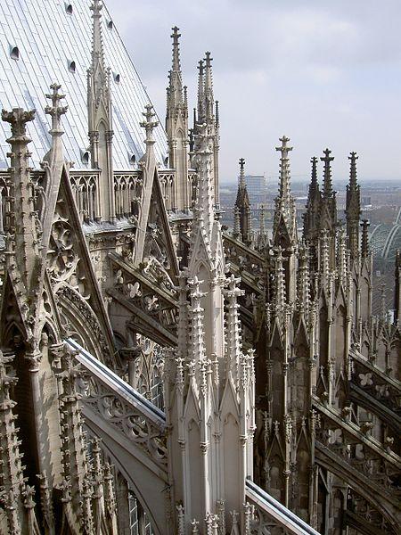 detal architektoniczny katedry w Kolonii