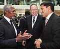 Kofi Annan talks to Raj Shah (8985883057).jpg