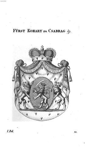 Ferencz József Koháry de Csábrág - Princely arms