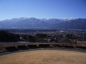Komagane, Nagano - Komagane City distant view