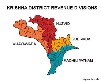 Krishna district - Krishna district revenue divisions