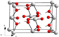 Ball and stick model of crystalline uranyl hydroxide