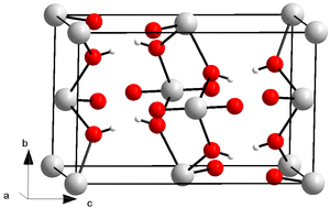 Uranyl hydroxide - Image: Kristallstruktur Uranylhydroxid