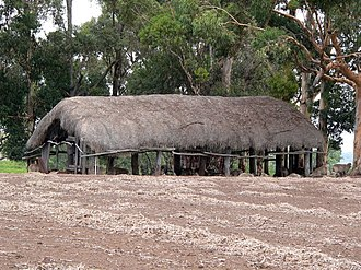 Krondorf, South Australia - A thatched roof barn in 2006 at Krondorf, South Australia