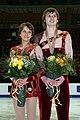 Ksenia Krasilnikova & Konstantin Bezmaternikh Podium 2008 Junior Worlds.jpg
